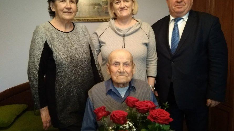 104 lata mieszkańca Zawady w gminie Ożarów