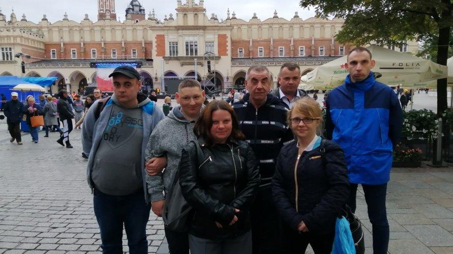 Wycieczka do Krakowa uczestników ze Środowiskowego Domu Samopomocy w Ożarowie