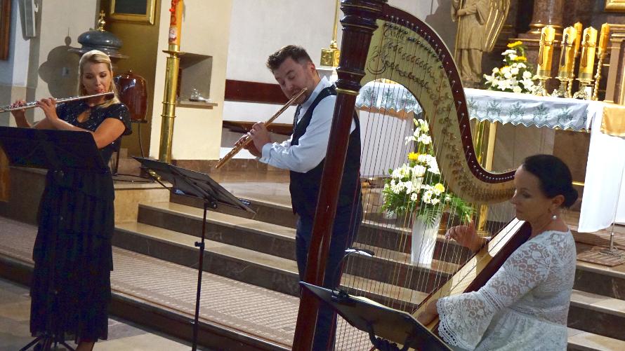 Koncert z fletem i harfą