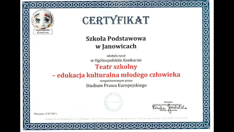 Teatr szkolny w SP Janowice – edukacja kulturalna młodego człowieka