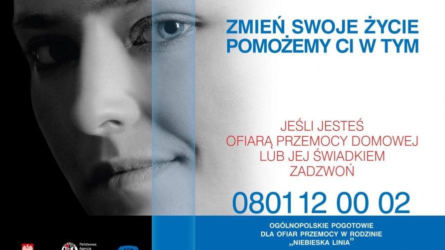 """Telefon zaufania """"Niebieska Linia"""" 800-12-00-02"""