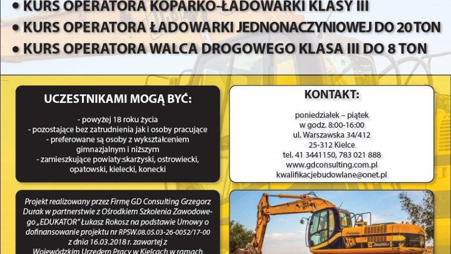 Kursy operatora maszyn budowlanych
