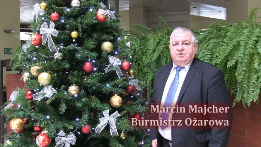 Życzenia Burmistrz Ożarowa Marcin Majcher