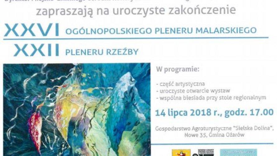 Zaproszenie na uroczyste zakończenie XXVI Ogólnopolskiego Pleneru Malarskiego