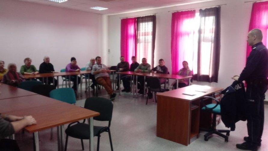 Spotkanie z policjantami w ŚDS